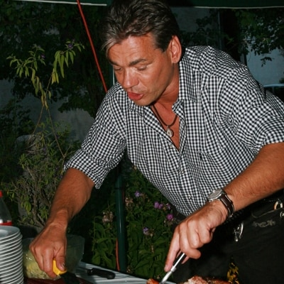 Andreas Sommerkorn vor Ort und in Aktion