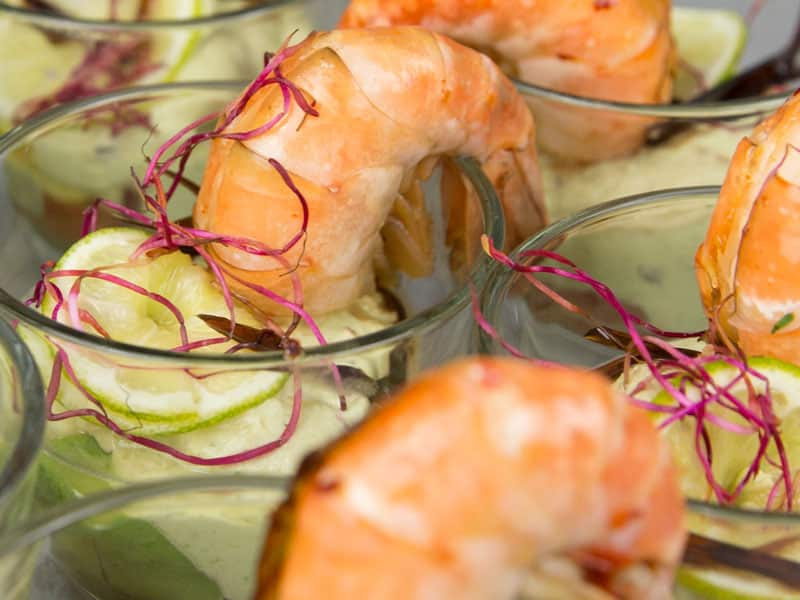 Exclusives Fingerfood, Garnele, Catering München