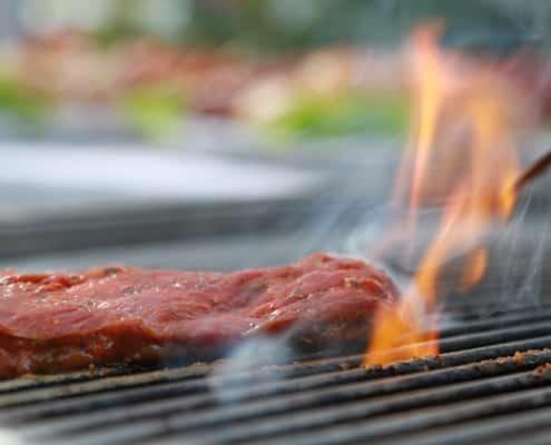 zartes Fleisch am heißen Grill